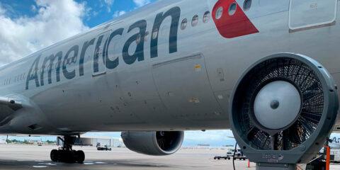 American Airlines utiliza climatizadores Joape
